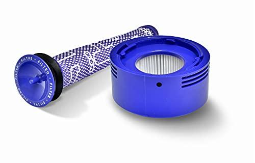 Invest Ersatz Filter für Dyson V8 V7 Pre-und Post-Motor Filter Dyson DY-96566101 DY-96747801 Ersatz-Set Dyson V8 V7 Pre-Filter Vormotorfilter Hepa-Filter Dyson V8+ V8 V7 (1)
