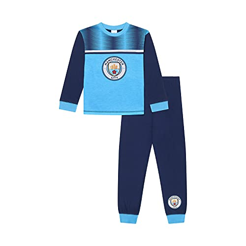 Manchester City F.C Boys Pyjamas, Man City PJ Set Ages 3 to 15 Years Old, Official Football Merchandise (13-14 Years) Blue