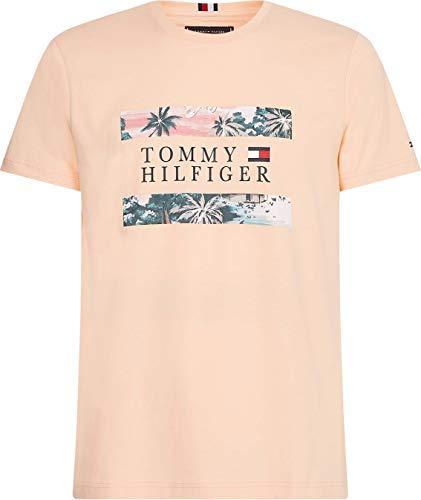 Tommy Hilfiger Herren Hawaiian Flag Tee T-Shirt, Zarter Pfirsich, XL