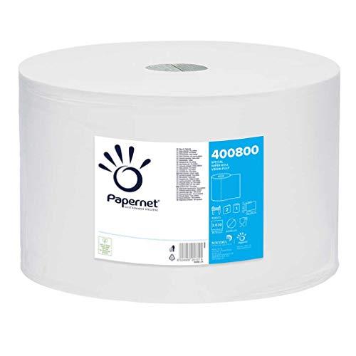Papernet 400800 - Bobina Asciugatutto Industriale - Rotolone Asciugatutto - Bobina carta asciugatutto - 1pz da 2030 strappi