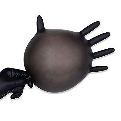 Industrial Nitrile Disposable Gloves,Powder Free, Food Grade Gloves,Latex Free, Box/100,Black-L