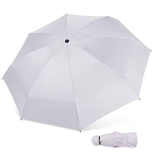 MARCELEN Mujer Mini Paraguas Pequeño del Sol Plegable para Mujeres Ultraligero Portátil...