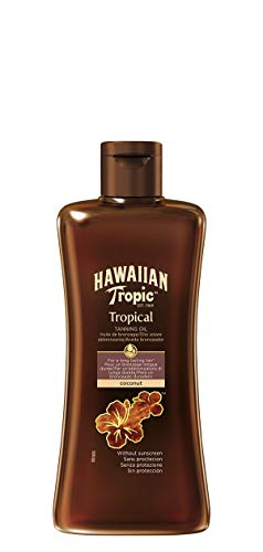 Hawaiian Tropic Tropical Tanning Oil LSF 0, 200ml, 1er Pack (1 x 200 ml)