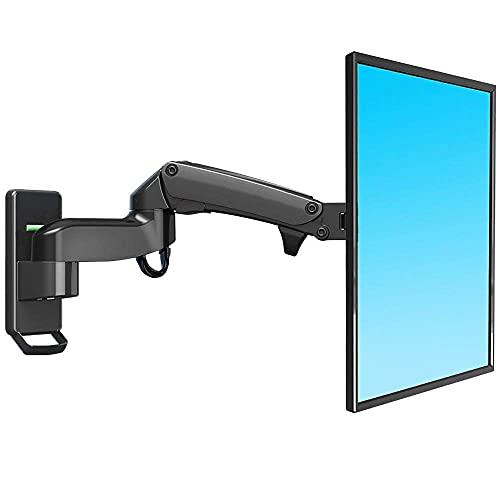 Inicio Equipos Soporte de TV Soporte de monitor independiente de acero inoxidable resistente para la mayoría de los televisores de 17 27 pulgadas Soporte de pared para TV de sobremesa de hasta 7 kg