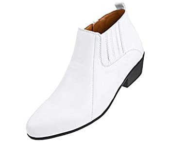 Bolano Bota - Men s Casual Boots Dress Boots for Men Western Boot Inspired - Ankle Boots Manmade Leather Solid Colors - Mens Fashion Boots - White - Size 13