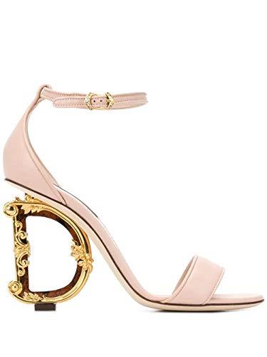 Moda De Lujo | Dolce E Gabbana Mujer CR0739AV96780412 Rosa Cuero Sandalias | Temporada Permanente