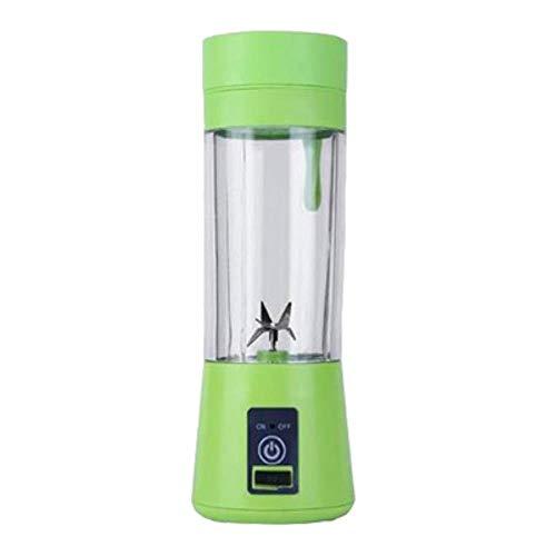 380ml draagbare juicer elektrische USB oplaadbare smoothie blender machinemixer Mini-sapbeker maker snelle blenders keukenmachine nieuw, groen, 6 messen