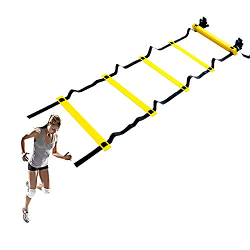 GXN Adulto Fitness Agility Ladder Baloncesto Pits Trainer Física Fitness Fitness Ladder para Interiores y Exteriores