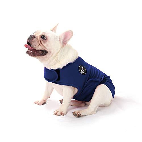 Abrigo de Alivio de la ansiedad para Perro, Ligero Abrigo de ansiedad Chaqueta Camisa para Mascotas ansiosas Mantener la Calma Comodidad (Azul, S)