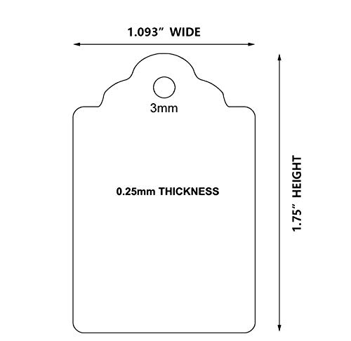 Brothersbox White Unstrung Merchandise Tags, Marking Tags, Price Tags, White Writable Tags for Products, Clothes Tags, Tag Gun Tags, 1.75 x 1.1 inches, Pack of 1000 Photo #2