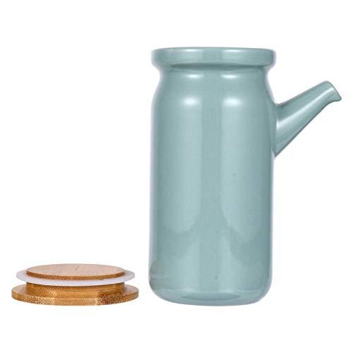 YARNOW Botella Dispensadora de Aceite de Cerámica Botella de Condimento de Vinagre de Cerámica Hervidor de Cocina Aceite de Oliva Salsa de Soja Vinagrera de Vinagre Almacenamiento de