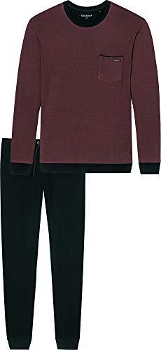 Schiesser Herren-Schlafanzug Beere/schwarz Größe 54