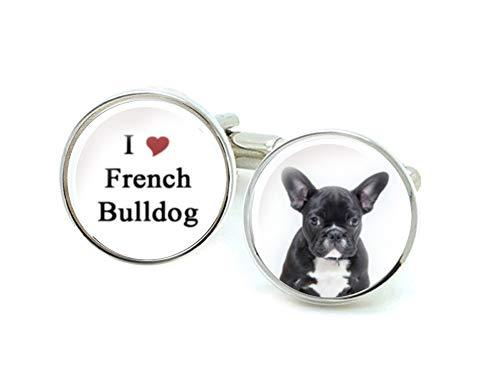 French Bulldog Cufflinks, Handmade Personalized Cufflinks