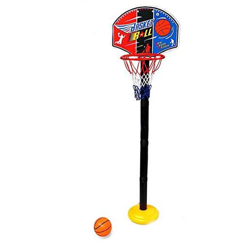 CLISPEED Kinder Basketballkorb Spielset Höhenverstellbare Stange 150Cm mit Ballnetz für Indoor Outdoor Sport Spielzeug für Basketballliebhaber Party Gefälligkeiten