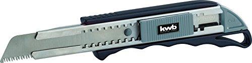 KWB 017118 Cuttermes met Japanse zaag 18 mm (automatische ock-functie, ook voor standaard 18 mm messen, roestvrij stalen geleiding voor lemmet)