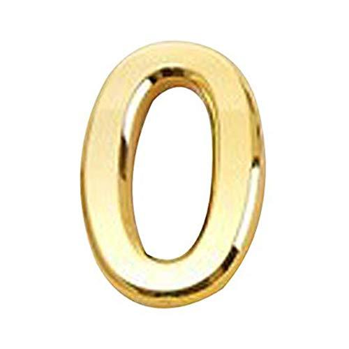 HHOSBFSS Espejo De Oro Elegante Aspecto 5 Cm Número De Casa Digital, Plástico 0-9 Signo De La Habitación, Puerta De Garaje para El Hogar Accesorios De Hardware (Color : 0, Size : Golden)