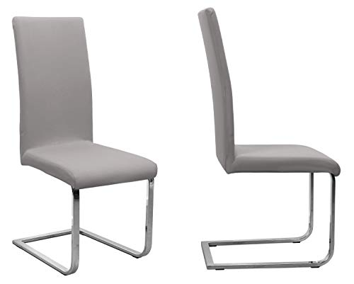 BEAUTEX - Juego de 2 fundas para silla (color a elegir), elásticas, de algodón, bielástica, algodón, Piedra de color gris medio., Onesize Stretch