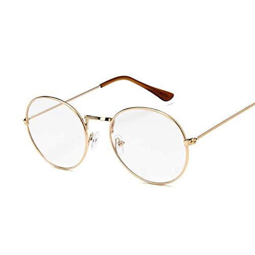 OULN1Y Gafas de sol Ocean Yellow Red Round Sun Glasses For Women Mirror Retro Ladies Small Sunglasses Women