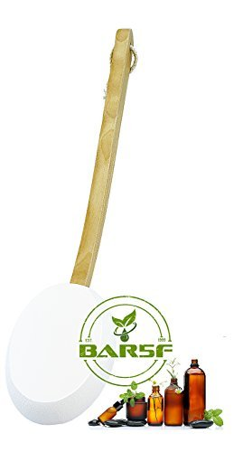 Lotion Applicator With Easy Reach Solid Wood Handle And Hang String - Easily Apply Lotions, Creams, Gels, Sunscreen, Ointments And Essential Oils In Hard To Reach Places (1)