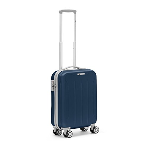 R Roncato 46.105.04.21 Flight - Trolley Cabina in ABS 100%, Blu Navy, 55 cm