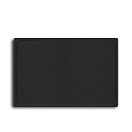 Wüsthof Schneideunterlage schwarz (7298), Schneidebrett aus Kunststoff, spülmaschinenfest, antibakteriell und temperaturbeständig von -20° bis +150° C