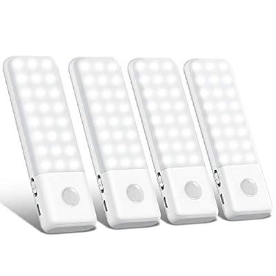 💡【Modos de Iluminación AUTO/ON/OFF】 La luz armario Trswyop tiene un sensor de movimiento PIR incorporado. Esta luz se enciende instantáneamente en la oscuridad cuando detecta movimiento a 10 pies de distancia y angulo de movimiento de 120°, se apaga ...