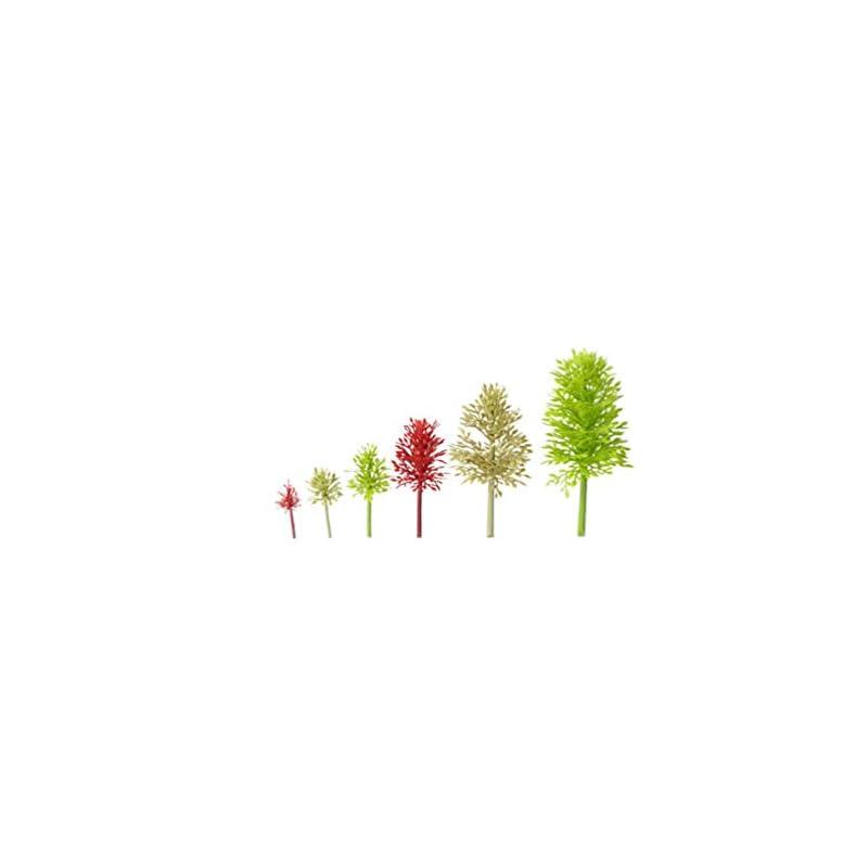 silk flower arrangements supvox mini prune tree plant artificial prune tree plastic tree model miniature figurine for micro landscape plant pot fairy garden ornament 6pcs