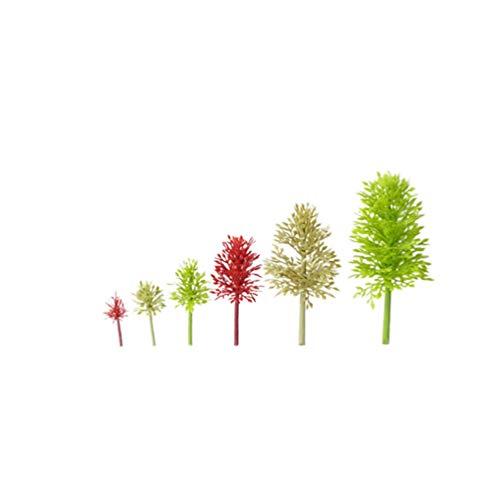 SUPVOX Mini beschneiden Baum Pflanze künstliche beschneiden Baum Kunststoff Baum Modell Miniatur Figur für Micro Landschaft blumentopf fee Garten Ornament 6 stücke