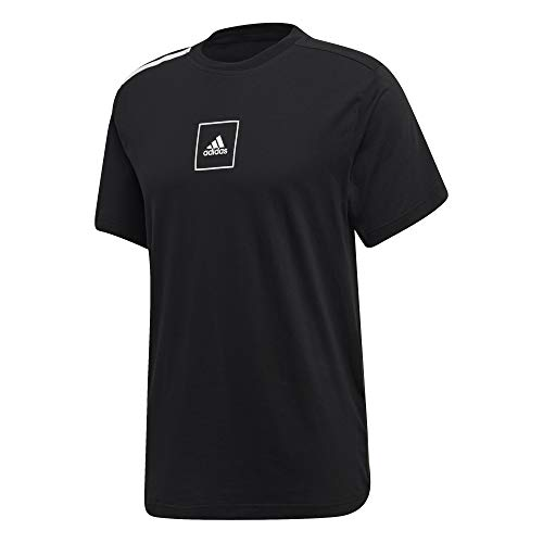adidas Herren M 3S Tape Tee T-Shirt, Black, XL