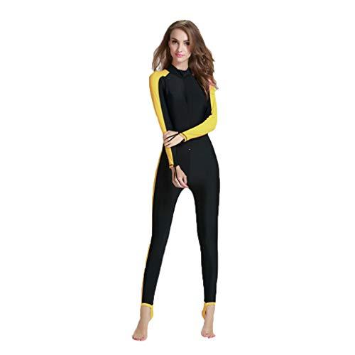 Damen Neopren Tauchanzug Dasongff 2mm Ganzkörper Neoprenanzug, Einteiliger Taucheranzug, Lange Ärmel, für Damen, Tauchen, Schnorcheln, Schwimmen, Wassersport, Ausrüstung