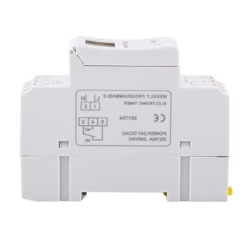 16 Temporizador de encendido y apagado, pantalla LCD, interruptor de temporizador digital para controlar las farolas(24 V inglés)