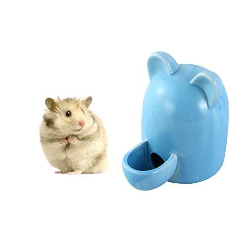 Balacoo Hamster Wasserflasche Meerschweinchen Trinknapf Feeder Flasche Keramik Stille Automatische Tränke für Kleine Haustiere Vogeligel Chinchilla Frettchen - 100Ml