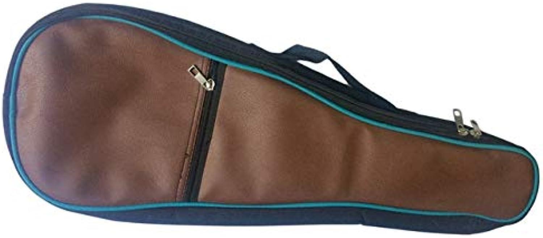 FishingAccessories  21 Inch Single Shoulder Straps Ukulele Guitar Bag Acoustic Guitar Gig Bag Soft Case Leather Fabric Guitar Waterproof Backpack