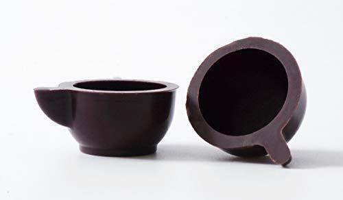 54 Stk. Schokoladen Tassen Edelbitter mit Rezeptvorschlag