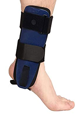Velpeau Ankle Brace - Stirrup Ankle Splint - Adjustable Rigid Stabilizer for Sprains, Strains, Post-Op Cast Support and Injury Protection (3-Dimensional Molded Pads, Small - Left Foot)