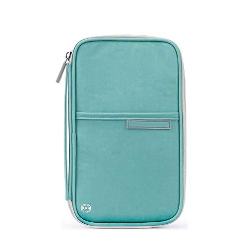 Reiseorganizer Reisedokumententasche Reisebrieftasche mit Reißverschluss, Reiseunterlagen Mappe für Pass, Kreditkarten, Flugkarten, Stift und andere Reise-Zubehör
