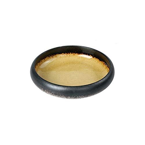 Platos llanos Burn Kitchen Comedor Bar Horno Tocado Ice Cracked Glaze Cena Plato Plato Japonés Sushi Sashimi Placa Cena Cena Placas Platos para servir de porcelana de cocina