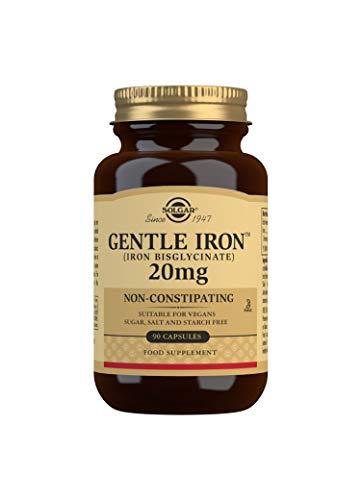 Solgar Gentle Iron (Iron Bisglycinate) 20 mg Vegetable Capsules - Pack of 90