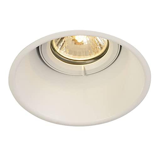 SLV LED Einbau-Strahler HORN-T, rund, schwenkbar, Dimmbare Deckenleuchten, Beleuchtung innen, LED Spots, Fluter, Deckenstrahler, Decken-Lampen, Einbau-Leuchten, einflammig, GU10 QPAR51