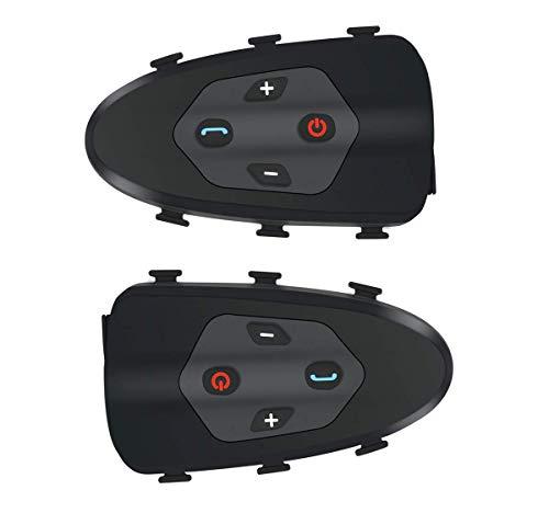 LNLJ Fiets-Walkie-Talkie Bluetooth Headset Wireless Communication System IP65 waterdicht 1200M Intercom afstand Bicycle Helm Dedicated (1 pak)