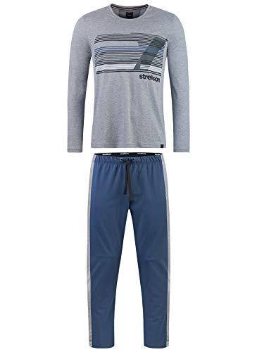 Strellson Bodywear Herren Pyjama Einteiliger Schlafanzug, Grau (Elite Grey Mel. 121.0), XX-Large