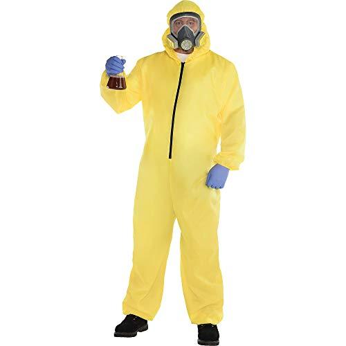 Party City Hazmat Suit Halloween Costume for Men, Plus Size, Includes Jumper and Mask