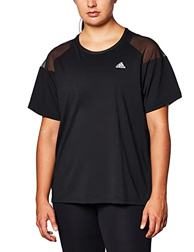 adidas W UC T Camiseta, Mujer, Negro/Blanco, XS
