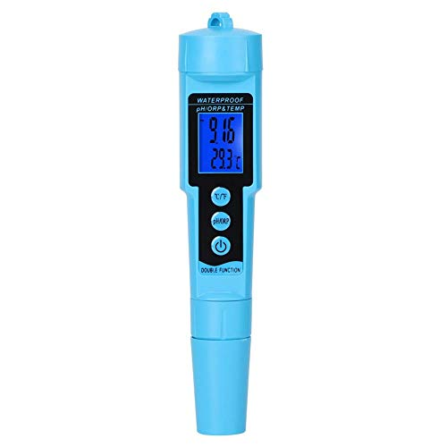 Sutinna Medidor de pH Digital, 3in1 Medidor de probador de Temperatura/pH/ORP de...