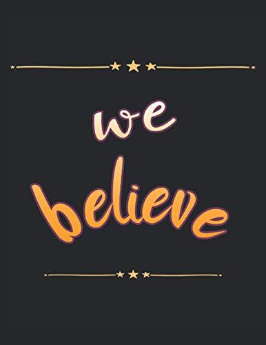 We Believe - Nous croyons que la Bible chrétienne dit: Carnet   Notebook   À carreaux, 21,59x27,94 cm (8,5'x11'), 120 pages, couleur crème, couverture mate