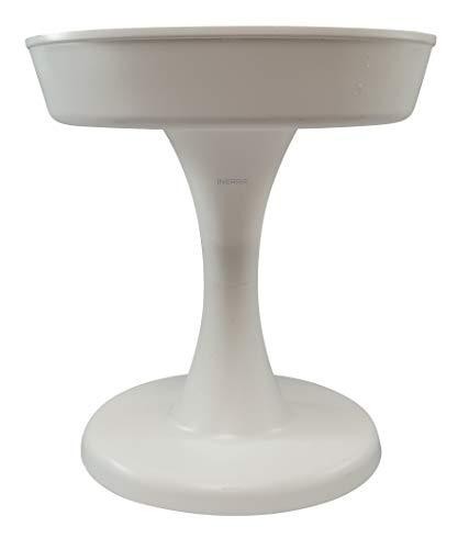 INERRA Compote Bowls - Wit Ronde Plastic Bloemist Schaal voor Schuim