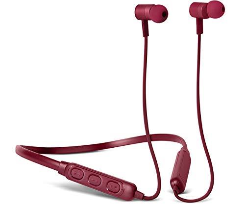 Fresh 'n Rebel Band-it Wireless - In-ear Headphones - Ruby | Cuffie auricolari Sport Bluetooth con Neckband e microfono e telecomando integrati, rosso rubino