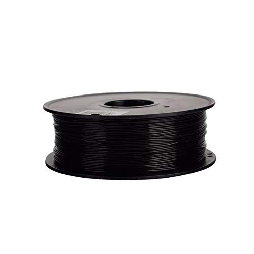WANG-N-J-3D, Filamento PC Premium da 1,75 / 3mm for Stampante 3D Filamento in policarbonato Resistente alla Temperatura in termoplastica (Colore : 100g 1.75mm Black)