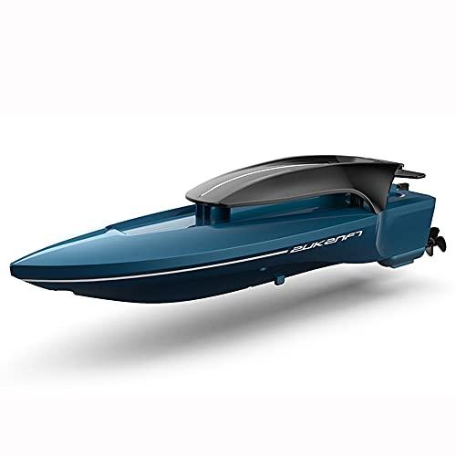 ADSVMEL 2.4GHZ RC Barco Lancha motora Doble Motor Impermeable Recargable para Lago al Aire Libre Piscina Estanque Agua Juguete para niños Regalo Modelo de simulación