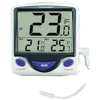 Digi-Sense Kalibriertes Jumbo-Kühlschrank-/Gefrierschrank-Thermometer, Draht-Sonde